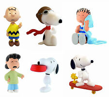 Bullyland Peanuts Personaggi Topper Per Torta Charlie Brown Snoopy Lucy Linus
