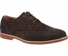 Mens Brown Suede Lace Up Hush Puppies Shoes Fowler EZ Dress UK 6-11