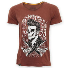 King Kerosin T-Shirt - Rockabilly Blades Braun