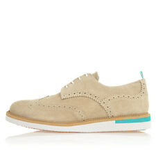 PULCHRUM Men Beige Suede ANDREA LOW LISK Derby Shoes New with Tag