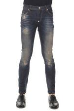 PHILIPP PLEIN Men New Cotton Stretch Blue Slim Fit HORSES Jeans Pants Trousers