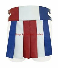 Mens Leather Kilt Gladiator style  in RED,White,Blue Colour BKLN004