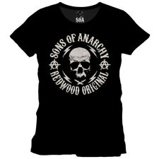 Sons of Anarchy T-Shirt - Badge Head Skull