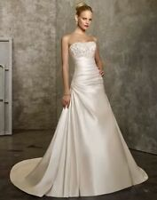 New White/ivory Wedding Dress Bridal Gown Stock Size 6-8-10-12-14-16