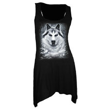 Spiral Girlie Top - Gothbottom Vest White Wolf
