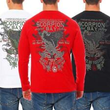 Scorpion Bay Camiseta Hombre Camisa de Manga Larga Manga Larga Polo MTLS3082