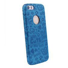 mStick Printed Design PU Leather Back Cover Case For Apple iPhone 5 / 5S / SE