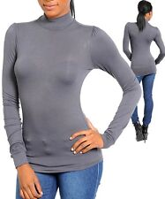 NEW IMPORTED LOVELY PERFECT FIT  GRAY TURTLE-NECK TOP