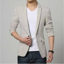 Men Slim fit Linen Blazer Coat Jacket Suit + 1 coat cover + 1 pockesquare hanky