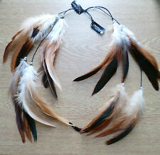 Feather Clip in/Feather hair streak/extension/Retro/BohoFestivals! DOUBLE
