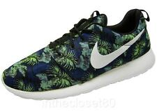 Nike Rosherun Print Palm Trees Space Blue White Green Mens Trainers 655206 413