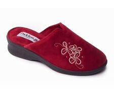 Padders Sabel Wider Fitting Mule Slipper With A Heel