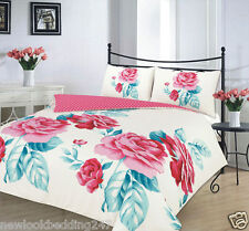 Beautiful Teal Isabella Duvet Cover Bedding Set Single Double King & Super King
