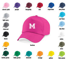 Personalised Varsity letter Baseball Cap Hat - Girls, Boys, Kids, Childrens, sun