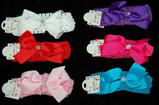 Newborn Girls Kids Baby Toddler Infant Bow Headband Hair Band Accessories colour