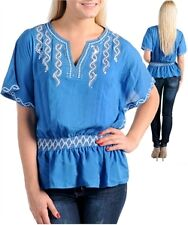 NEW  LOVELY BLUE PARTY TOP  WITH SEQUINS