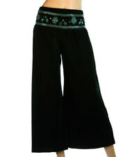 NEW IMPORTED GREEN VELVET PARTY PANTS WITH SEQUINS