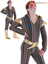 Mens Ziggy Stardust Costume Adults 1970s David Bowie Fancy Dress Pop Star Outfit