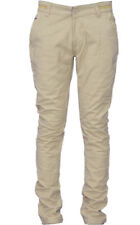 Ability Khaki Cotton Blend Slim Fit Chinos Casual Trousers