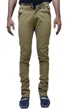 Addy Nuddy Khaki Cotton Slim Fit Chinos Casual Trousers