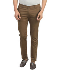 Cotton Khaki Slim Fit Chinos Casual Trousers