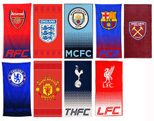 Official Football Club Towels Man Utd Liverpool Spurs Arsenal Chelsea Barcelona
