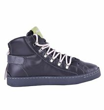 DOLCE & GABBANA High-Top Zip-Up Sneakers Grau Made in Italy Grey 04640