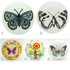 Butterfly Ceramic Door Knobs Porcelain Kitchen Door Handles Cupboard Pulls New