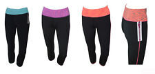 Ladies Sports Cropped  Pants 3Quarter Leggings Running Yoga Fitness Gym Bottoms