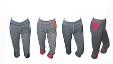 Sports Ladies Cropped Pants 3Quarter Leggings Running Yoga Fitness Gym Bottoms