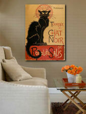 Vintage Le Chat Noir The Black Cat Rodolphe Salis Canvas Art Poster Repro Print