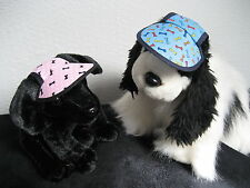 DOG SUN CAP HAT SUN VISOR BONES PRINTS PERSONALISED IN 4 SIZES FROM UK