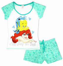 Womens Pyjamas Shorts Top Little Mermaid Ariel Stay In Bed Disney Sizes 8 to 22