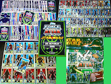 Topps FORCE ATTAX Star Wars CLONE WARS Serie 5 - SET+KARTEN Trading Cards