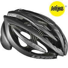Lazer Helium with MIPS Helmet Bicycle Ventilated Rollsys Matt Black/Grey