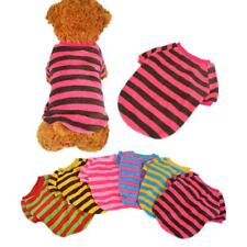 Cute Dog Stripe Shirt Puppy Pet Coral Fleece Sweater Apparel 6 Colors XXS-L