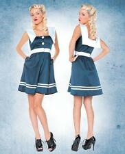 Folter Clothing Sail Away Nautical Sailor Pinup Rockabilly Retro Mini Dress NWT