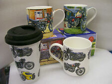 Fine China Mug Classic British Bikes Norton Vincent Royal Enfield Interceptor