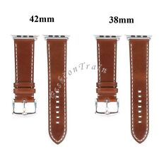 38mm/42mm Genuine Leather Buckle Wrist Watch Band Strap For iWatch Apple Watch