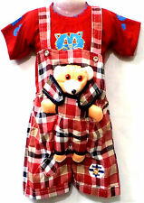 Newborn Baby Infant Girl Boy Cotton Clothes Outfits Dress Dungaree ,6 -18 Months