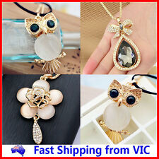 Fashion Alloy Rhinestone Crystal Pendant Necklace With Long Chain Jewellery Gift