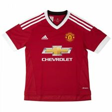 Adidas Performance Youths Manchester United Home Football Shirt (Red/White)