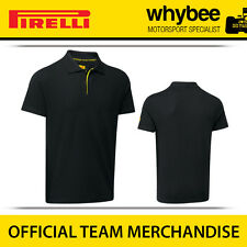 New! Pirelli P Zero F1 Racing Motorsport Mens Polo Shirt Black Sizes S-XXL