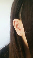 Tiny Heart Tragus Earring Fake Or Real Earring Ear Cuff Body Jewelry Silver
