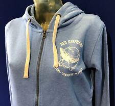 Ladies Sea Shepherd Zip Hoodies, 3 colours  Black, Mid Heather Blue, Light Khaki