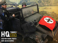 1/6th Large scale German WWII Vehicle Recognition Flags ideal for DiD or Dragon.