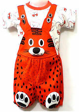 Newborn Baby Infant Girl Boy Cotton Clothes Outfits Dress Dungaree ,0 -18 Months