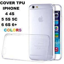 Crystal Clear Soft Silicone Transparent TPU Case cover iPhone 4S 5 5C 6 PLUS 6S