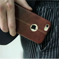 "Vorson® For ""Apple iPhone 5/5S/SE"" Double Stitch Leather Shell Back Case Cover."
