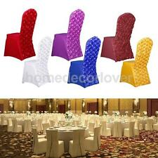 1 x Rose Flower Universal Stretch Long Dining Room Chair Cover Slipcover Wedding